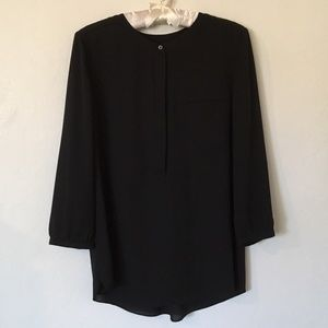 NYDJ Pleat Back, 3/4 or Long Sleeve Blouse